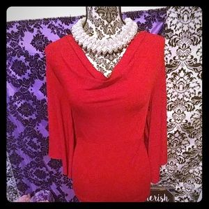 Red top with flowy arms size Large